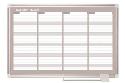 4 mesačná plánovacia tabuľa, magnetická, 90x60 cm, VICTORIA
