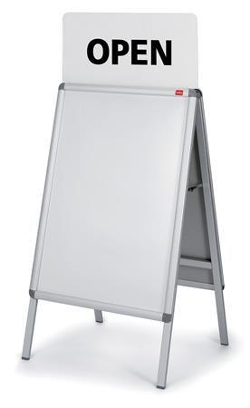 A- rám, pre stojaté tabule, 64x1x30, NOBO, biely