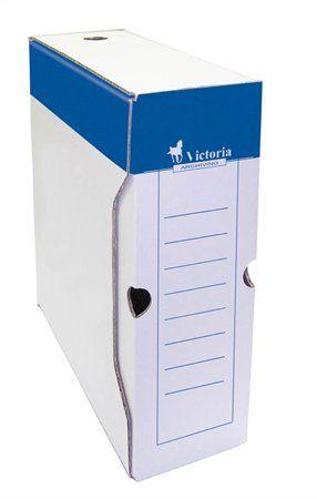 Archívny box, A4, 100 mm, kartón, VICTORIA, biely