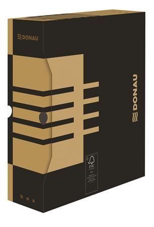 Archívny box, A4, 100 mm, kartónový, DONAU, prírodný