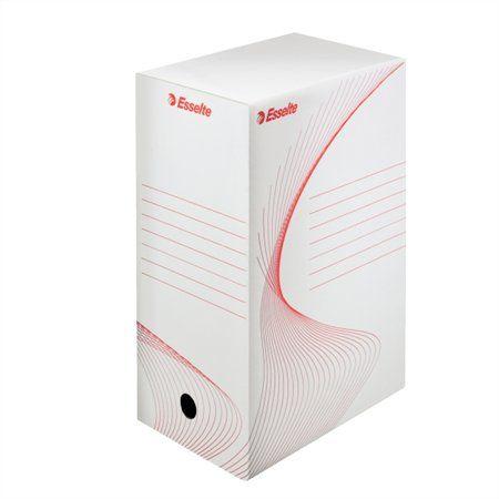 """Archívny box, A4, 150 mm, kartón, ESSELTE """"Standard"""", biely"""