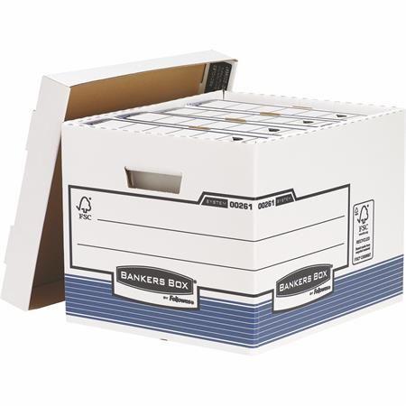 """Archívny kontajner, kartónový, štandardný, """"BANKERS BOX® SYSTEM by FELLOWES®"""", modrý"""