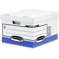 """Archívny kontajner, kartónový, veľký, """"BANKERS BOX® SYSTEM by FELLOWES®"""", modrá"""