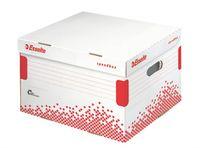 """Archívny kontajner, L veľkosť, recyklovaný kartón, ESSELTE """"Speedbox"""", biely"""