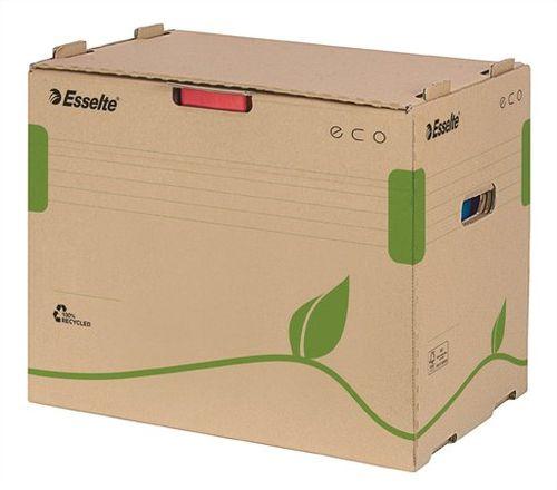 """Archívny kontajner, recyklovaný kartón, na šanóny, ESSELTE  """"Eco"""", hnedý"""