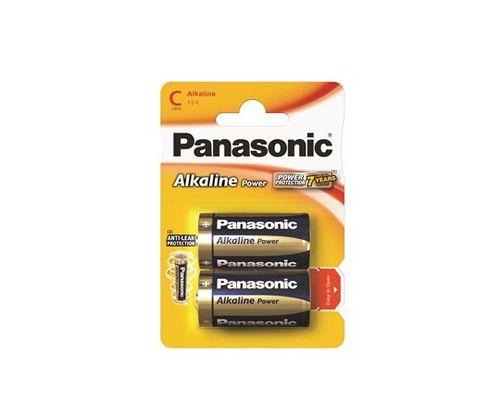 "Batéria, C baby, 2 ks, PANASONIC ""Alkaline power"""