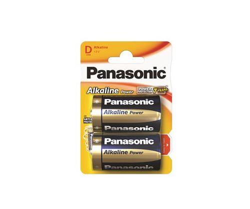 "Batéria, D, veľkokapcitná, 2 ks, PANASONIC ""Alkaline power"""