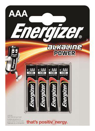 """Batérie, AAA mikrotužková, 4 ks, ENERGIZER """"Alkaline Power"""""""