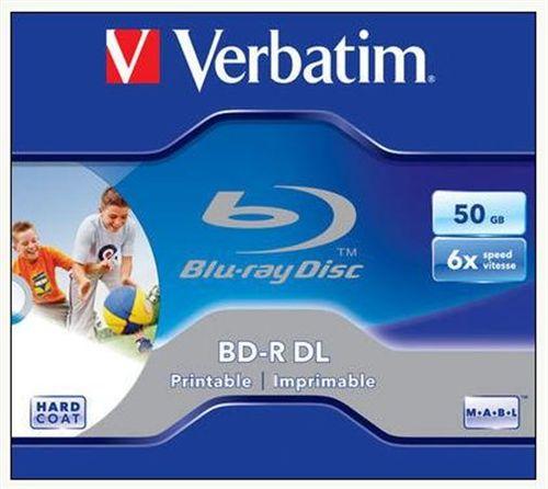 BD-R Blu-Ray dvojvrstvové 50GB, 6x, potlačitel'né, VERBATIM