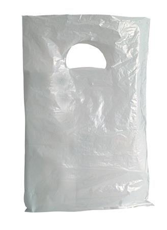 Biele igelitové tašky, 200 x 300