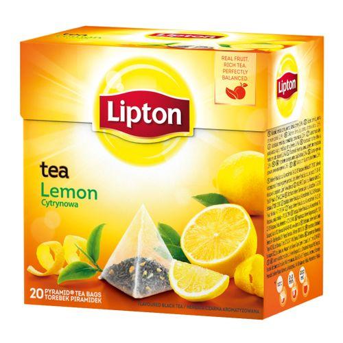 Čaj Lipton čierny Citrón 34g pyramídy
