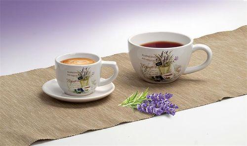Čajová šálka s levanduľovým vzorom, 400 ml