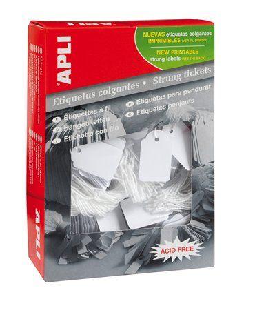 Cenové etikety, 11x29 mm, APLI, biele