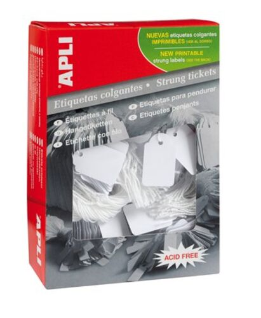 Cenové etikety, 15x24 mm, APLI, biele