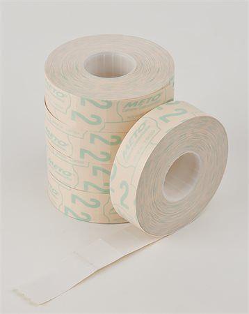 Cenové etikety, 19x16 mm, METO, biele