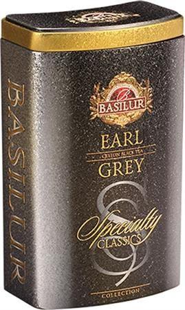 """Čierny čaj, 100 g, kovová krabica, """"BASILUR Classic Earl Grey"""""""