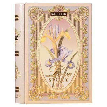 """Čierny čaj, porciovaný, 10 g, kovová krabica v tvare knihy, """"BASILUR Love Story II"""""""