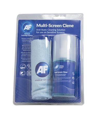 "Čistiaca tekutina, k monitorom, s veľkou utierkou z mikrovlákien, s pumpou, 200 ml, AF ""Mu"
