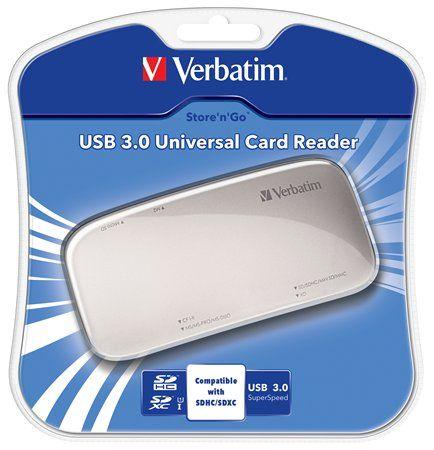 Čítačka kariet, univerzálna, USB 3.0 pripojenie, VERBATIM