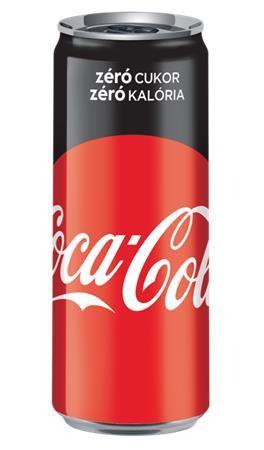 "Coca-Cola ""Zero"", v plechovke, 0,33 l"