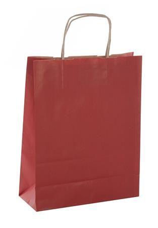 Darčeková taška, 24x11x31 cm, APLI, červená