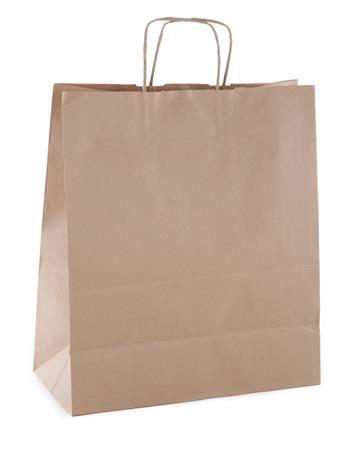 Darčeková taška, 24x11x31 cm, APLI, hnedá