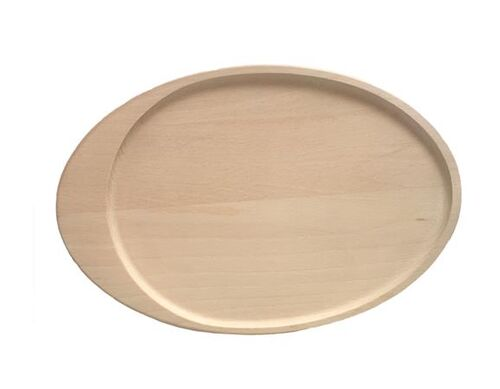 Drevený tanier, oválny, 30 cm