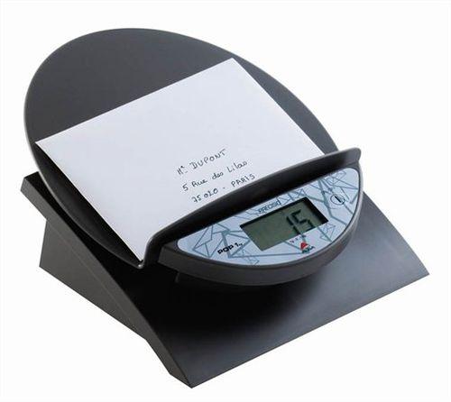 Elektronická váha na listy, sivá farba, 1 kg, ALBA