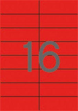 Etikety, 105x37 mm, farebné, APLI, červené, 1600 etikiet/bal