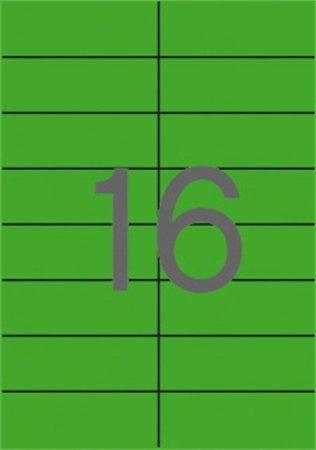 Etikety, 105x37 mm, farebné, APLI, zelené, 1600 etikiet/bal
