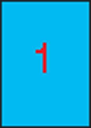 Etikety, 210x297 mm, farebné, APLI, modré, 100 etikiet/bal