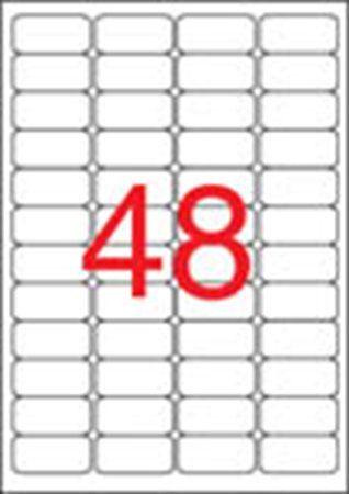 Etikety, 45,7x21,2 mm, bezpečnostné, zaoblené rohy, APLI, 480 etikiet/bal
