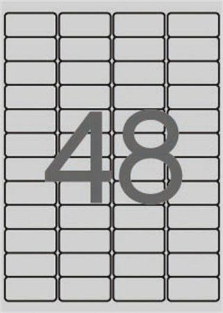 Etikety, 45,7x21,2 mm, polyester, odolné voči poveternostným podmienk, zaoblené rohy, APLI