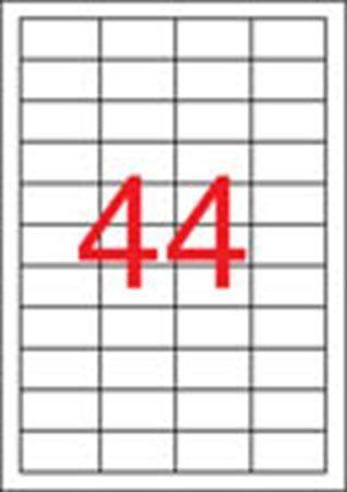 Etikety, 48,5x25,4 mm, polyester, odolné voči poveternostným podmienkam, matné, APLI, prie