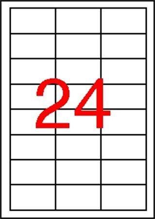 Etikety, 64,6x33,8 mm, polyester, odolné voči poveternostným podmienkam, APLI, 2400 etikie