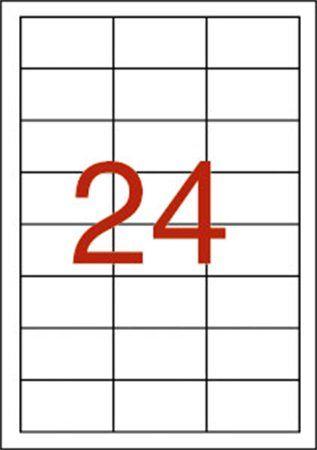 Etikety, 64,6x33,8 mm, polyester, odolné voči poveternostným podmienkam, APLI, 480 etikiet