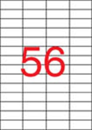 Etikety, do laserových tlačiarní, 52,5x21,2 mm, APLI, 14000 etikiet/bal