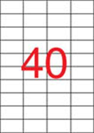Etikety, do laserových tlačiarní, 52,5x29,7 mm, APLI, 10000 etikiet/bal