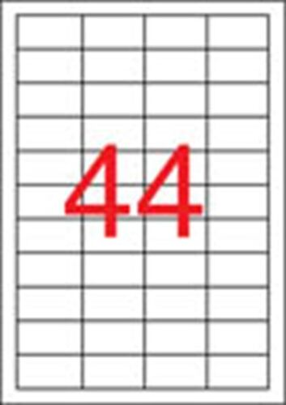 Etikety, do laserovýh tlačiarní, 48,5x25,4 mm, APLI, 11000 etikiet/bal