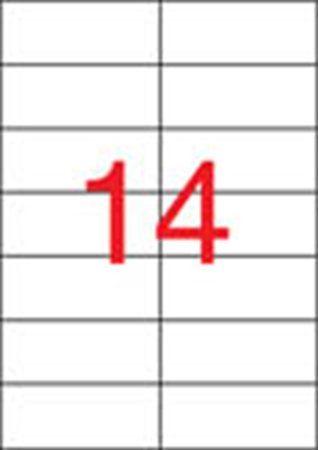 Etikety, univerzálne, 105x42,4 mm, APLI, 1400 etikiet/bal