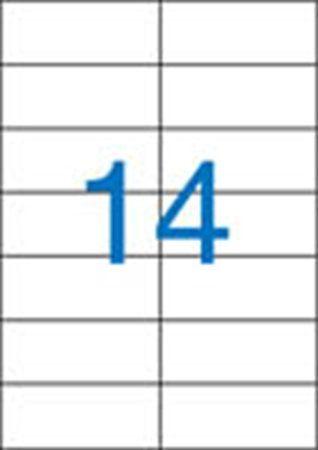 Etikety, univerzálne, 105x42,4 mm, VICTORIA, 1400 etikiet/bal