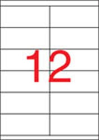 Etikety, univerzálne, 105x48 mm, APLI, 6500 etikiet/bal
