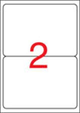 Etikety, univerzálne, 199,6x144,5 mm, zaoblené rohy, APLI, 200 etikiet/bal