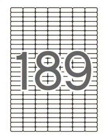 Etikety, univerzálne, 25,4x10 mm, APLI, 1890 etikiet/bal