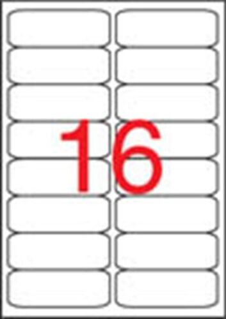 Etikety, univerzálne, 99,1x34 mm, zaoblené rohyú, APLI, 1600 etikiet/bal
