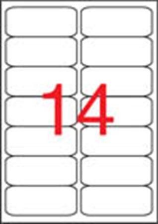 Etikety, univerzálne, 99,1x38,1 mm, zaoblené rohy, APLI, 1400 etikiet/bal