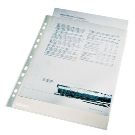 "Euroobal, A4, 43 mikr., drsný povrch, v krabici, ESSELTE ""Standard"""