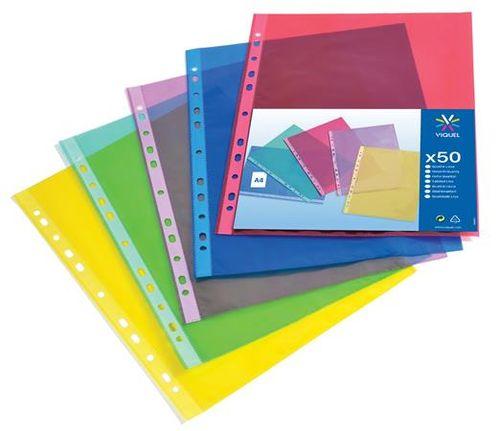 "Euroobal, A4, 50 mikr., priehľadný, VIQUEL ""Trend"", mix farieb"