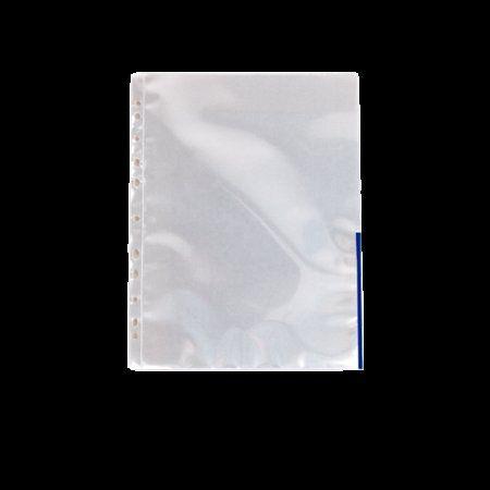 Euroobal, s farebným okrajom, A4, 105 mikr., číry povrch, ESSELTE, modrý