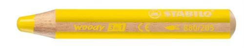 """Farebná ceruzka, hrubá, STABILO """"Woody"""", žltá"""